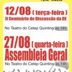 CARTAZ ASSEMBLEIA E SEMINÁRIO1